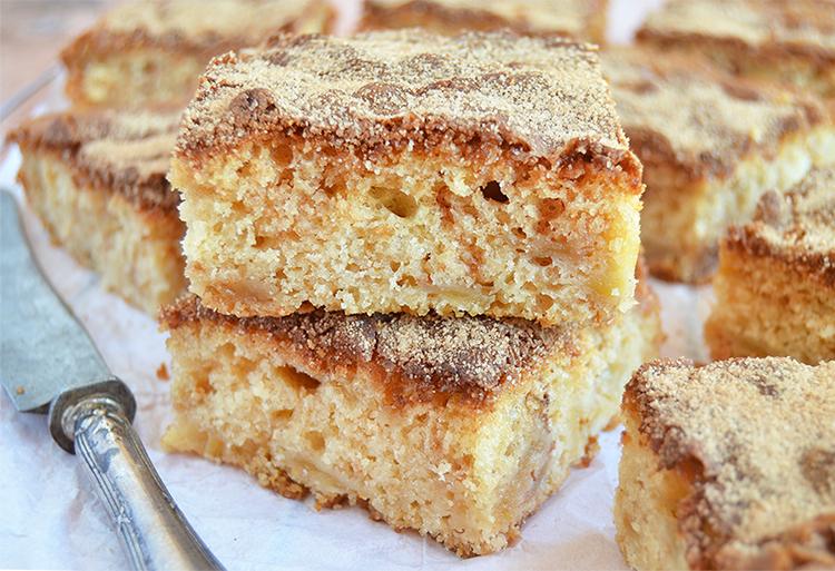 Torta de manzana con canela