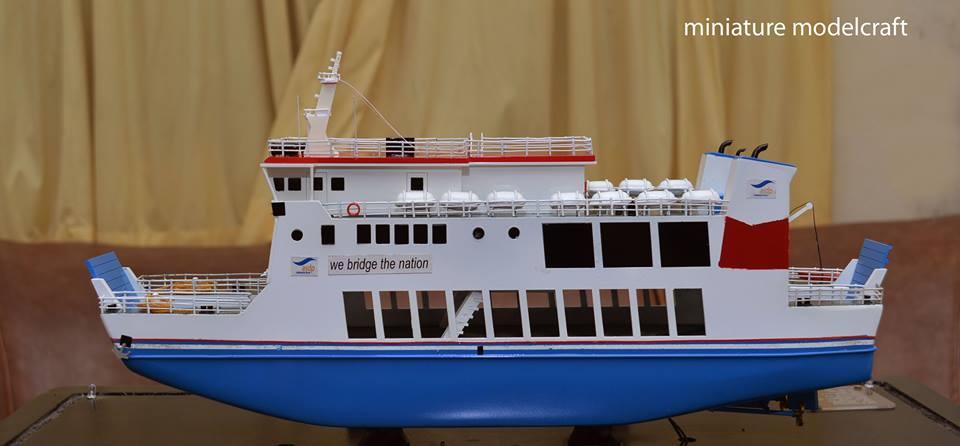 souvenir miniatur kapal ferry kmp muria jepara indonesia
