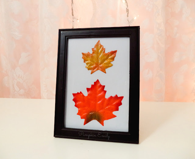DIY Fall Leaf Frame Art