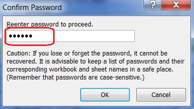 Make Password Protected Excel File