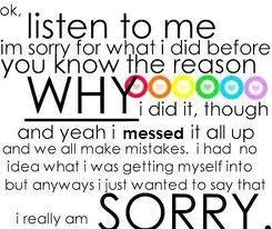 Η σημασία της συγγνώμης.