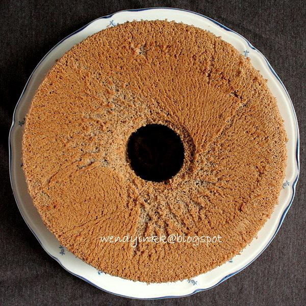 Black Glutinous Rice Chiffon Cake Recipe
