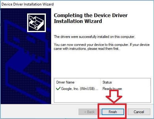 Berikutnya silahkan selesaikan instalasi adb.
