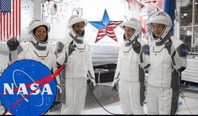 इतिहास में नासा के पहले वाणिज्यिक मानव अंतरिक्ष यान प्रणाली के हिस्से के रूप में, चार अंतरिक्ष यात्रियों