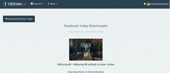 Facebook Video Downloader Online<br/>