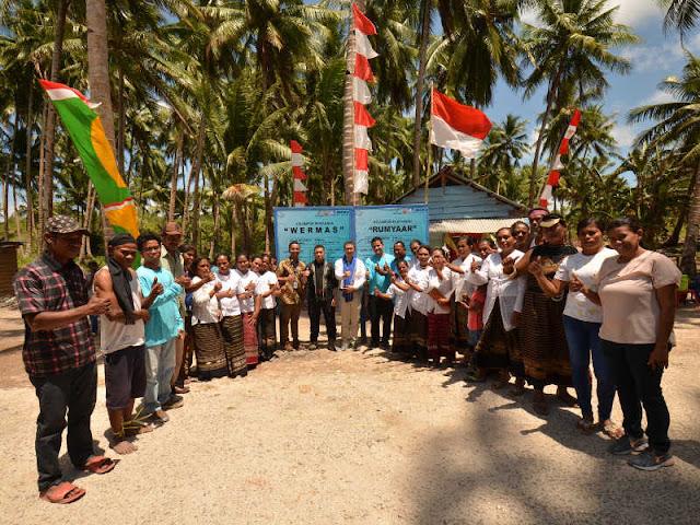 Inpex Resmikan Sekretariat Kelompok Rumput Laut di Lermatang