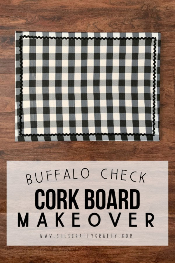 Give an old cork board an update with fabric and trim