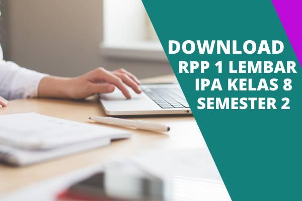 RPP 1 Lembar IPA Kelas 8