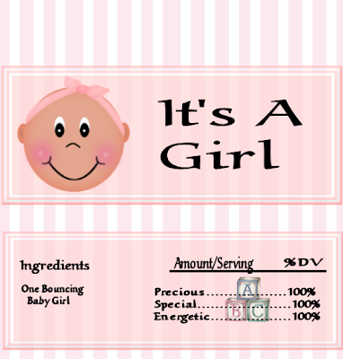 Nice Baby Girl: Free Printable Chocolate Wrapper.