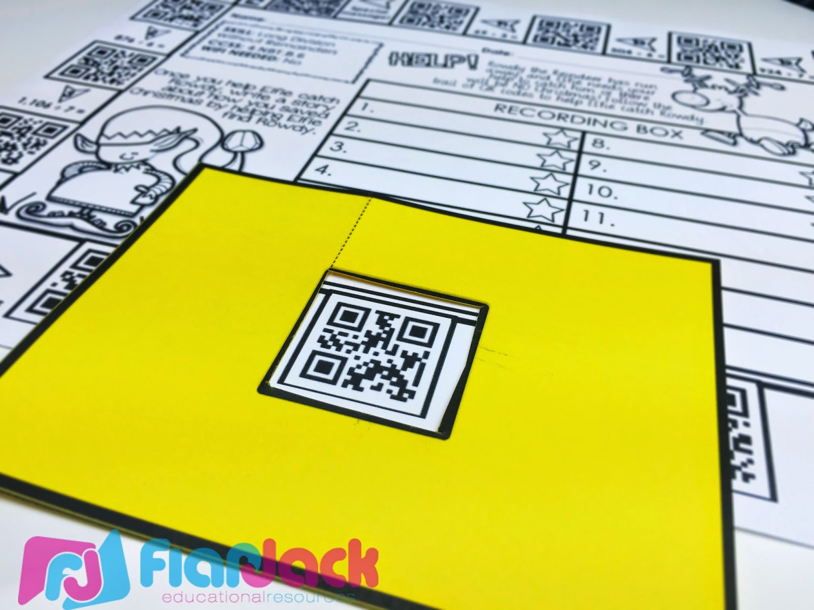 Flapjack Educational Resources Holiday Qr Code Printables
