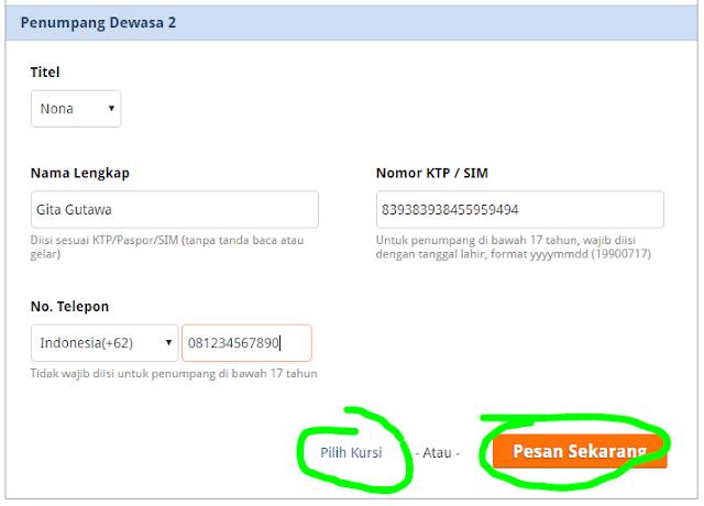 Cara pesan tiket kereta api online di Indomaret