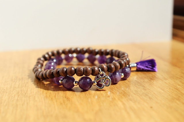 Tassel Bracelet, Om Jewelry, Amethyst Bracelet, Stacking Bracelet Set, Jewelry Sets, Yoga Jewelry