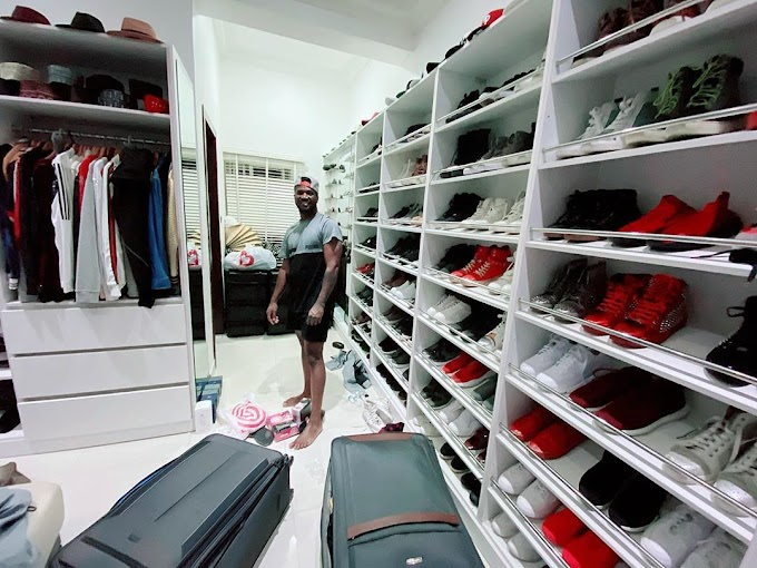 Man Raid Mr. P's Closet And Makes Away With Wears Worth 1 Million Naira In 30 Seconds