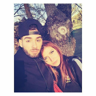 Carrasco with his Girlfriend Noemie Happart
