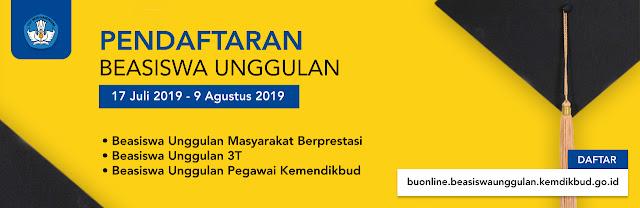 Beasiswa Unggulan Masyarakat Berprestasi merupakan beasiswa dalam negeri untuk jenjang S PENDAFTARAN BEASISWA KULIAH S1 S2 S3 MASYARAKAT BERPRESTASI (TERMASUK GURU) 17 JULI – 9 AGUTUS 2019