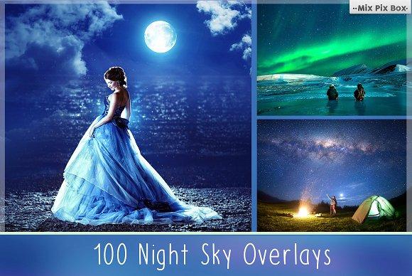 100 Night Sky: Độ phân giải 100 ảnh bầu trời đêm độ phân giải cao (kích thước khác nhau khoảng 4500x2700px ở mức 300dpi jpeg)