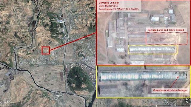 Imagem satelital mostra como ficou a cidade impactada pelo míssil desastrado