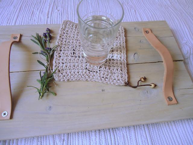 drewniana taca diy