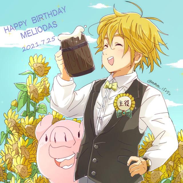Nanatsu no Taizai: fãs comemoram aniversário de Meliodas
