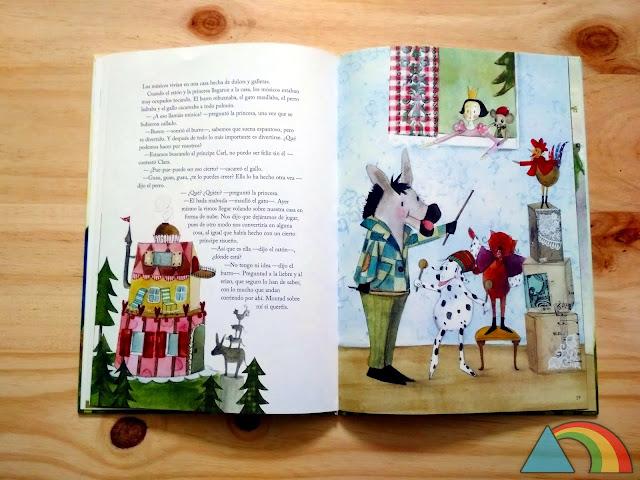Interior de libro El príncipe Rana de Ikea