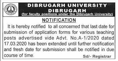 DU Recruitment 2020