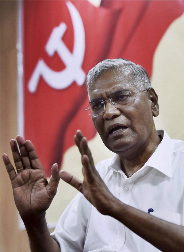 Image result for भाकपा के महासचिव डी राजा