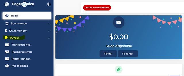 Sistema NO OFICIAL para retirar fondos de PayPal en Ecuador con PAGAR ES FÁCIL.