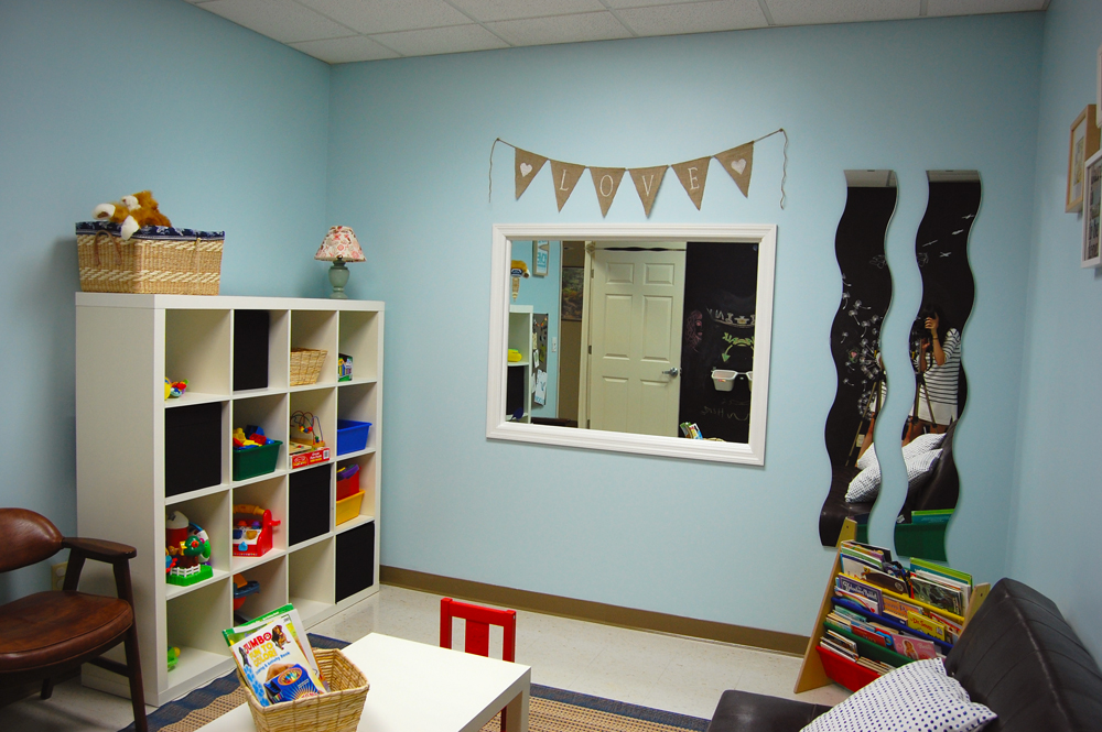Down and Out Chic Foster Care Visitation Room Before  After
