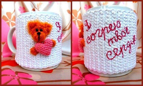 Funda de Crochet para Tazas Figuras 3D