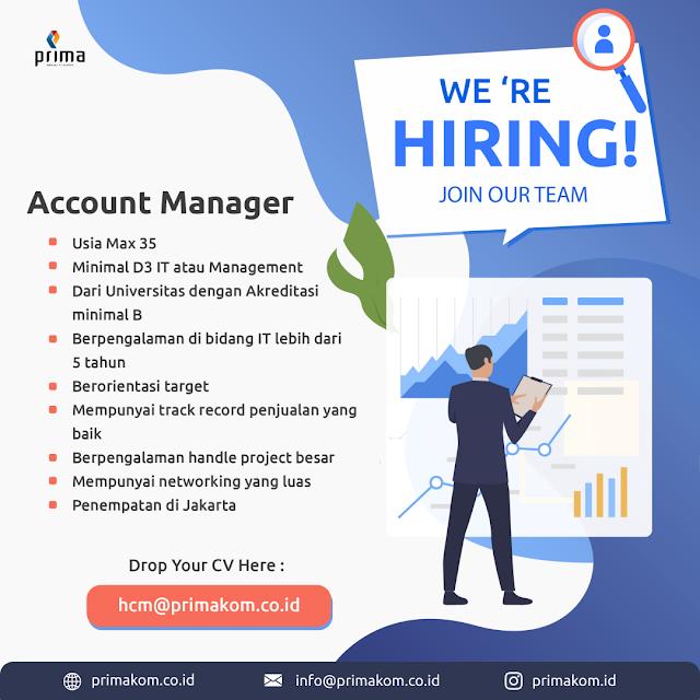 Lowongan Kerja Account Manager
