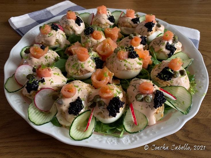 huevos-salmón-plato