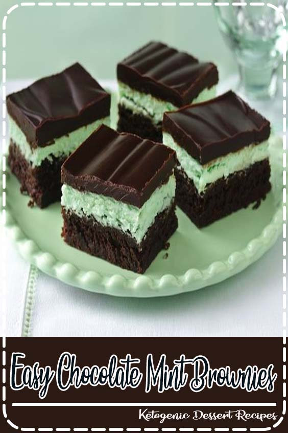 Indulge in a classic kafe with three delicious layers Easy Chocolate Mint Brownies