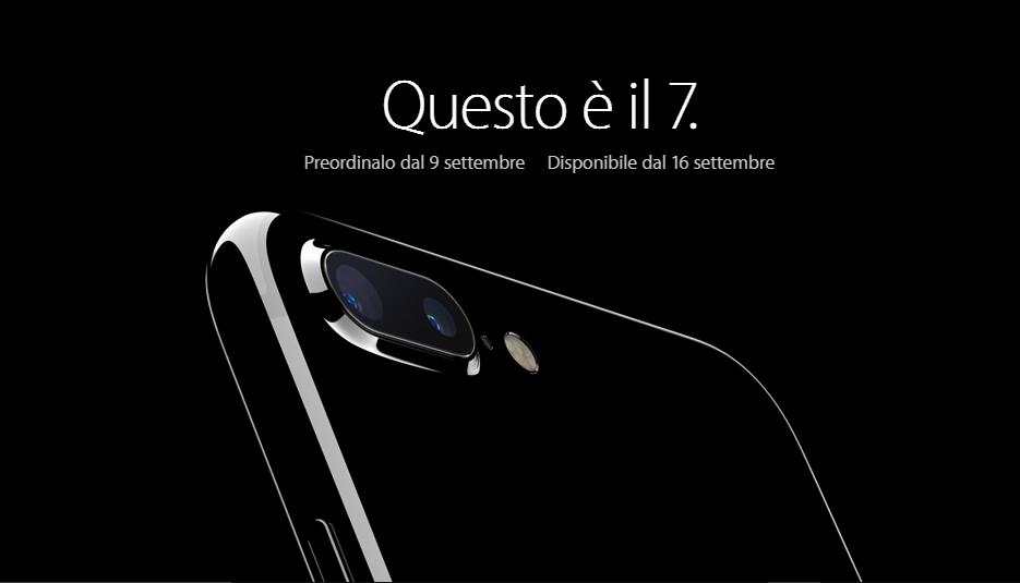 iPhone 7 disponibile dal 16 Settembre (anche in Italia) da 799 euro | Video HTNovo