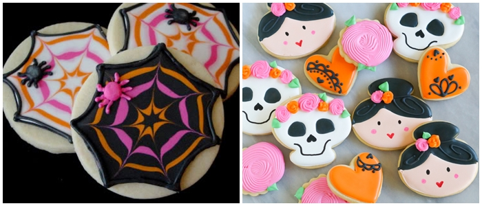 Bake at 350 decorated cookie index: Halloween cookies