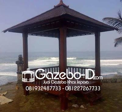 Gazebo Minimalis Jati Pantai