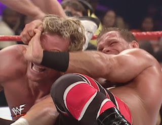 WWE / WWF - Armageddon 2000 - Chris Benoit puts the crossface on Billy Gunn