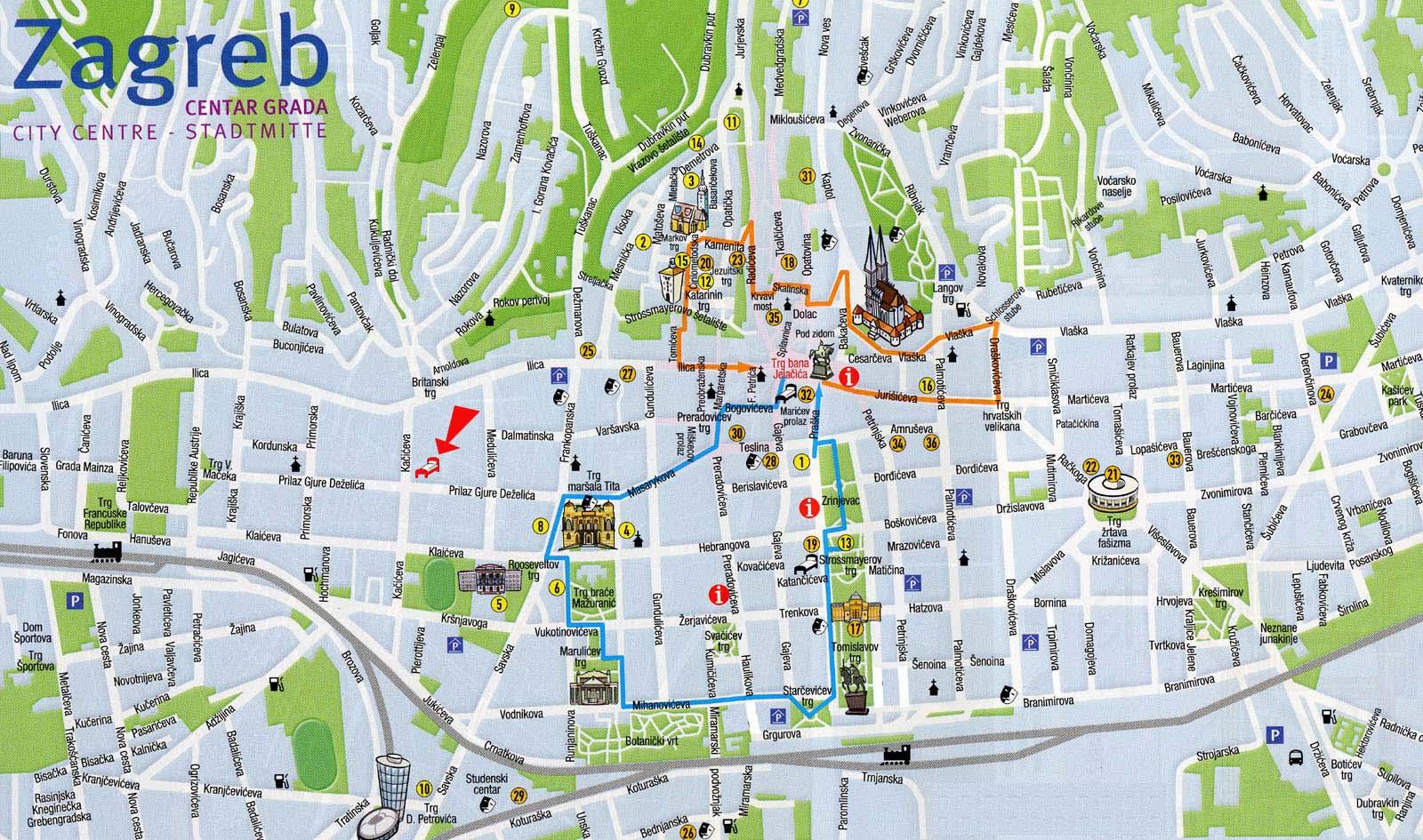 zagreb mapa Mapas de Zagreb   Croácia | MapasBlog zagreb mapa