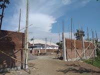 Realisasi Gedung Serba Guna Desa Rambipuji Tahap Kedua (Pembangunan Tembok Gedung)