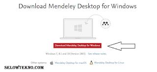 Dowload Mendeley Dekstop