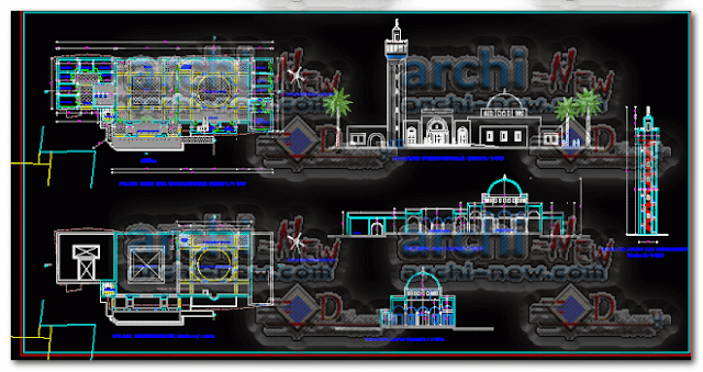 autocad-project-dwg-mosque