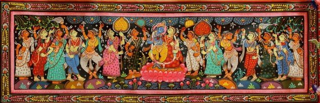 Amazing Patta Chitra miniature art of Raghurajpur, Odisha