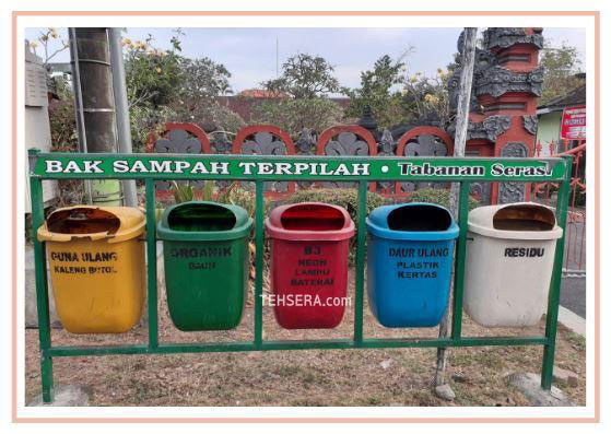 bak sampah terpilah yang benar