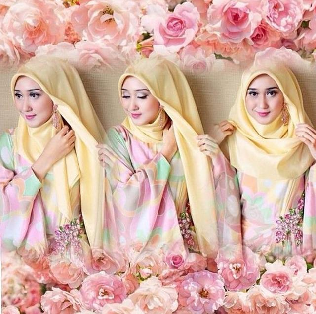 cara pakai hijab untuk pesta