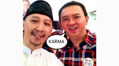 Tengku Zul Wafat, Abu Janda Singgung Karma, Pamer Foto Bareng Ahok: Semoga Dikabulkan Bersama 4900 Bidadari