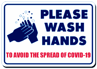 notice cuci tangan untuk memutus persebaran corona / covid-19