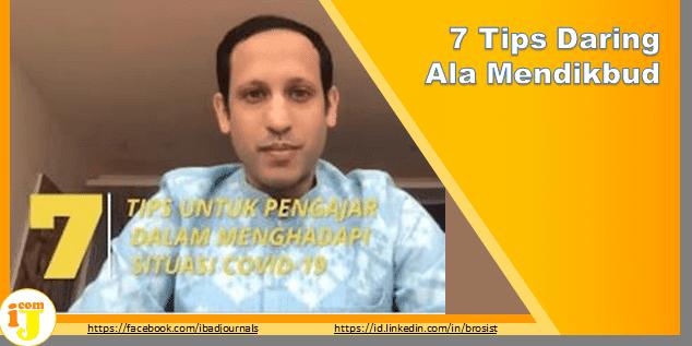 7 Tips Daring Ala Mendikbud