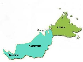 Peta Sabah Sarawak