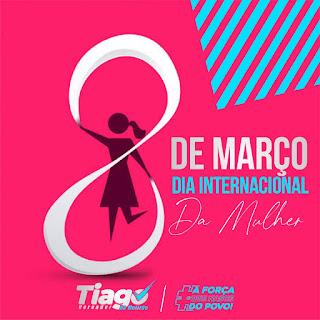 Em Guarabira: Nas redes sociais o vereador Tiago do Mutirão parabeniza as mulheres na passagem de seu dia