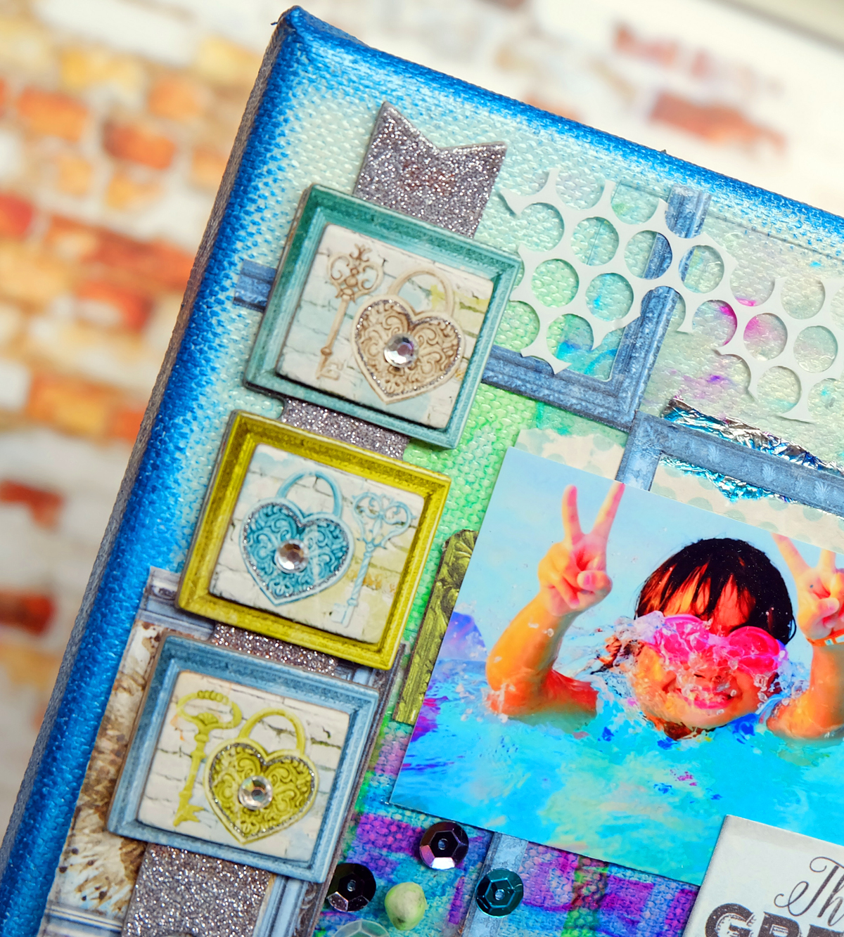 BoBunny: Life In Color And Pentart Media Inks W Ayumi