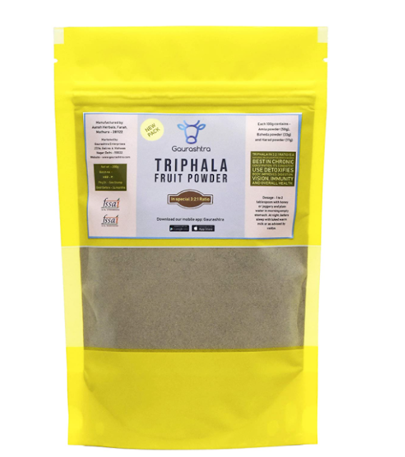 Gaurashtra Triphala Powder in 3:2:1 Ratio of Amla, Baheda & Harad (200 g)